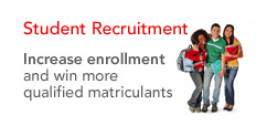 Student Recruitment - Increase enrollment and win more qualified matriculants